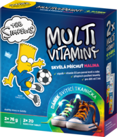THE SIMPSONS MULTIVIT.2X20EFF.TBL+SVÍTÍCÍ TKANIČKA