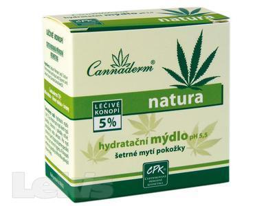 Cannaderm Natura hydratační mýdlo 100g