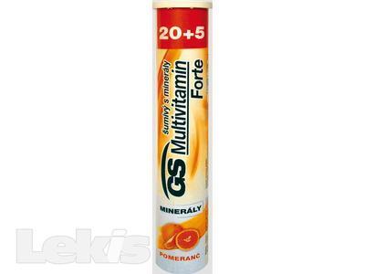 GS Multivitamin s miner.šumivý Forte pomer. tbl.20+5