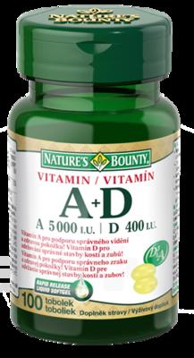 Natures Bounty Vitsamin A+D tob. 100x5000/400i.u.