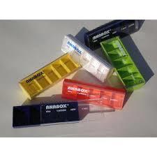 Dávkovač na léky ANABOX Denní box barevné rozliš.