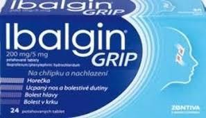 IBALGIN GRIP 200 MG/5 MG POR TBL FLM 24
