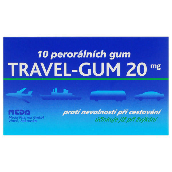 TRAVEL-GUM 20 ctb 10x20mg