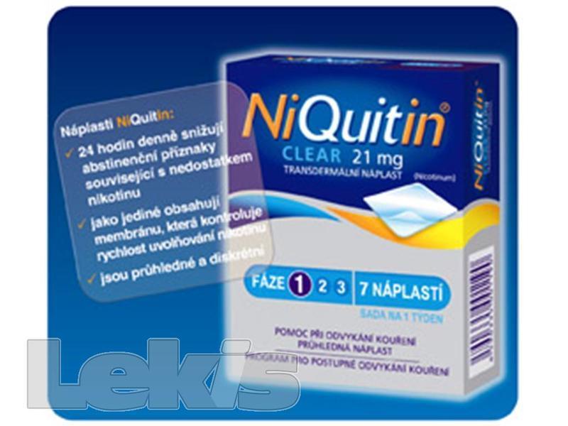 NIQUITIN CLEAR 21 MG DRM EMP TDR 7X21MG