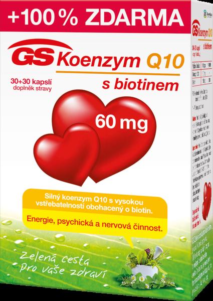 GS Koenzym Q10 60mg cps. 30+30 tbl.zdarma