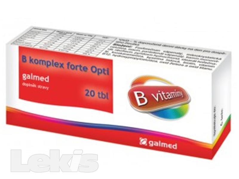 B-komplex forte Opti Galmed tbl.20