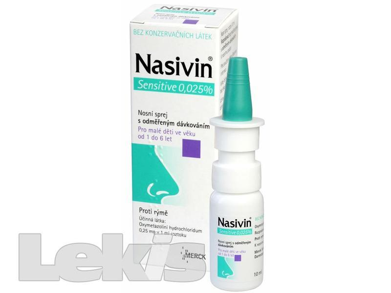 Nasivin Sensitive 0.025 % nas.spr.sol.1x10ml