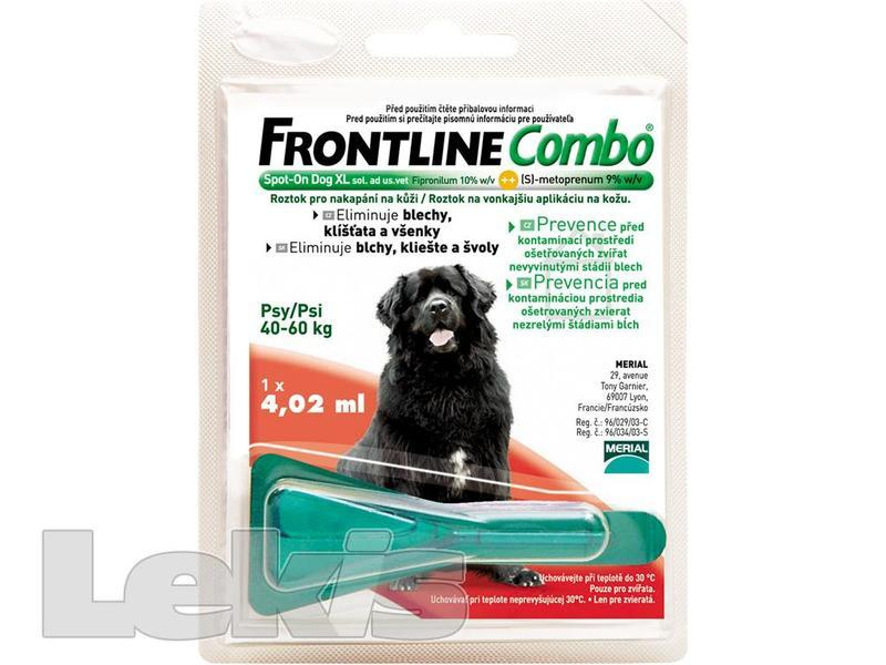 FRONTLINE COMBO SPOT ON DOG XL 1X1 PIP.4.02ML 40-60KG